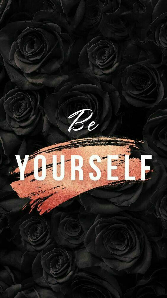 Black And Gold Pink Be Yourself Inspirational Wallpapers