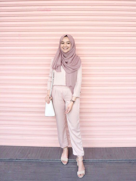 Trend Color Pastel Hijab Outfit Ideas Hijab Style Casual Hijab Outfit Fashion Hijab Casual