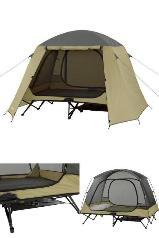 Cot Tent 2 Person Camping Hunting Padded Floor Elevated Gear Storage Rain Fly Tent Best Tents For Camping Tent Sale
