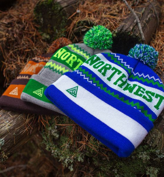 Newport Pom Beanie - Winter 2015 Line  #pnw #upperleftusa #thegreatpnw #pacific #northwest #apparel  #fashion #outdoors #hat #beanie #toque #grey #lime #green #warm #cozy #pom #seahawks #seattle #brown #orange #blue