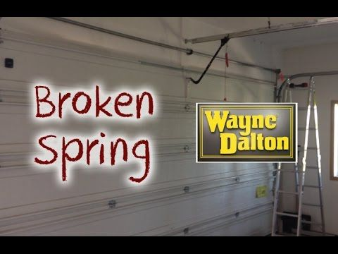 How To Diagnose A Broken Garage Door Spring Youtube Broken Garage Door Spring Garage Door Springs Broken Garage Door