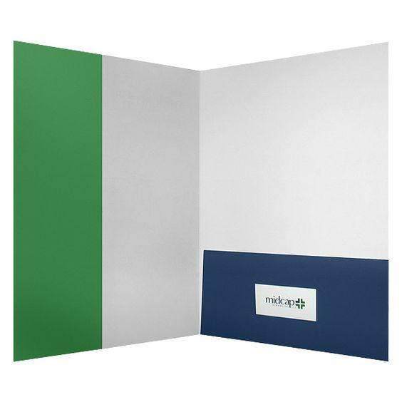 Design MidCap Financial Presentation Folder w\/ Vertical - resume presentation folder