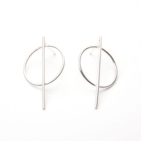 Circle Line Earrings