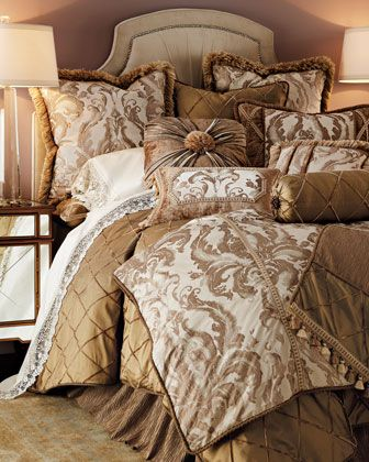 """Park Avenue"" Bed Linens by Dian Austin Couture Home at Horchow."