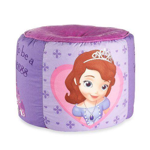 "Sofia the First ""Ready to Be a Princess"" Printed Pouf Ottoman Disney http://www.amazon.com/dp/B00JQM1ZZM/ref=cm_sw_r_pi_dp_OPkMtb0S1RKV08CW"