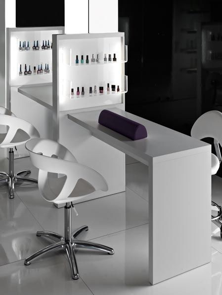 Manicures bar and tables on pinterest for Nail salon table