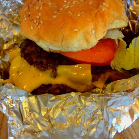 Five Guys Bacon Cheese Burger