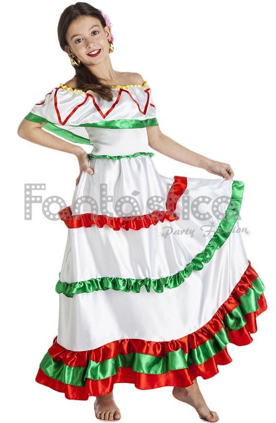 Disfraz para Niña Mejicana II - Tienda Esfantastica