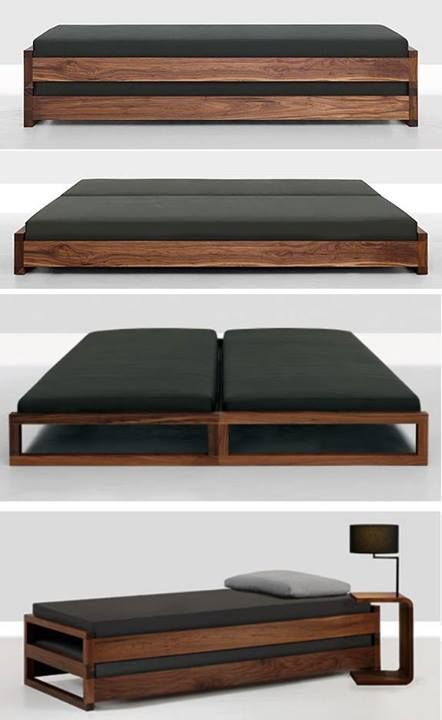 two stacked guest beds by zeitraum moebel made by oak. Black Bedroom Furniture Sets. Home Design Ideas