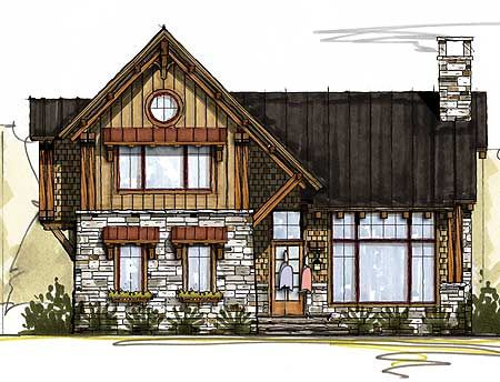 Architectural designs rustic house plan 18767ck 3 beds 2 for Rustic garage plans