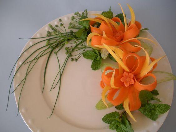 Jazz centros de mesa and flor on pinterest - Decoracion de platos ...