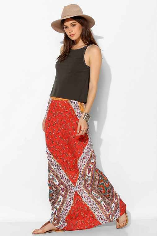 Red straight maxi skirt – Modern skirts blog for you