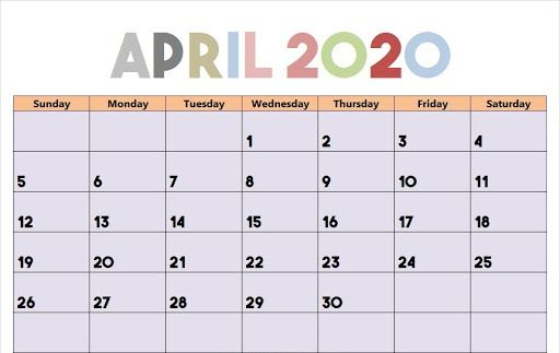 Free April Calendar 2020 Free Printable Template Pdf Word Excel In