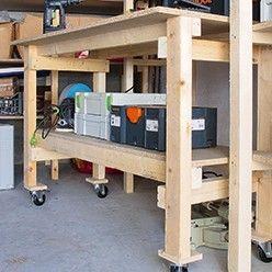 Diy Garage Etagere Et Etabli Sur Mesure Etabli Rangement Remise Etabli Mobile