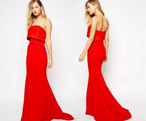 """Size: One Size Bust: 33.07""""-47.24"""" Waist: 26.77""""-33.07"""" Hip: 40.94""""-52.75""""  Color: Red Material: Polyester/Spandex Occasion:Prom/Homecoming/Wedding/Red Carpet/Event  Ships within 1-7 business days. Delivery takes 7-20 business days once shipped."""