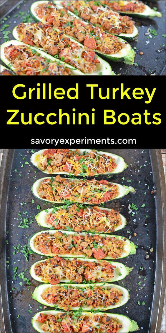 grilled turkey zucchini turkey grilling recipes healthy zucchini boat ...