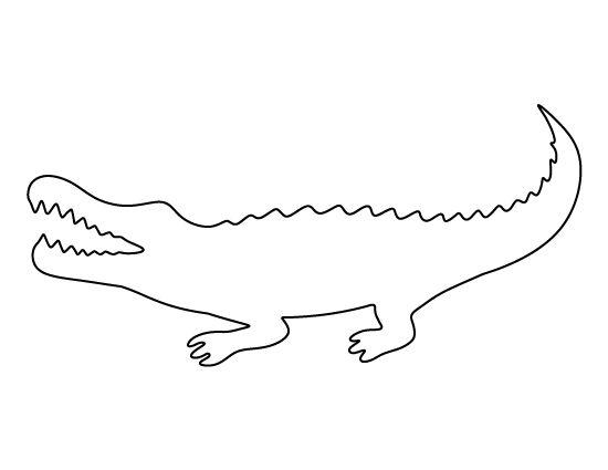 template of crocodile crocodile dessins silhouettes mod 232 les artisanat papier et papiers d 233 coup 233 s