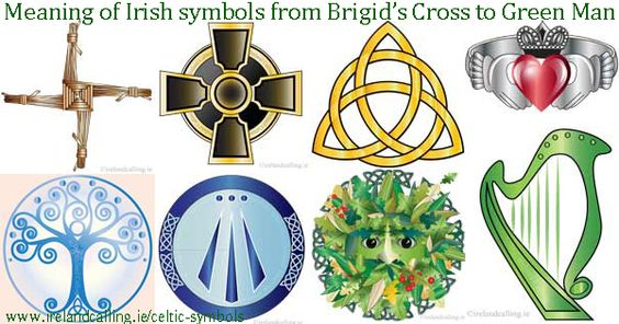 Celtic symbols of Ireland, an ancient country, home to many civilisations for thousands of years. Find out about Celtic symbols, old and new at www.irelandcalling.ie: