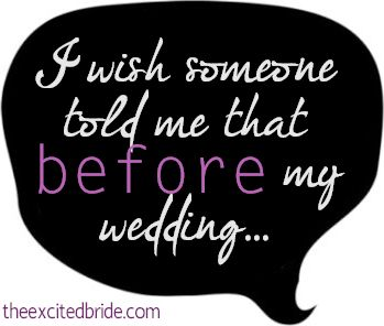 Tons of wedding tips I'll be happy I pinned one day