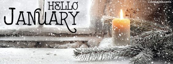 Hello January Facebook Cover: