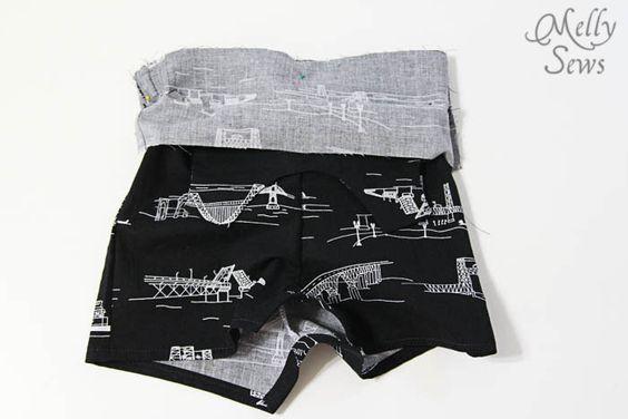 無料パターンとMelly縫っによって11男の赤ちゃんのロンパースステップ