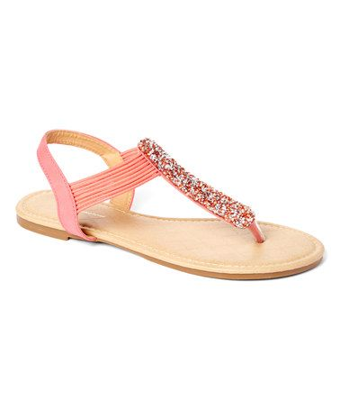 Another great find on #zulily! Coral Nora Sandal #zulilyfinds