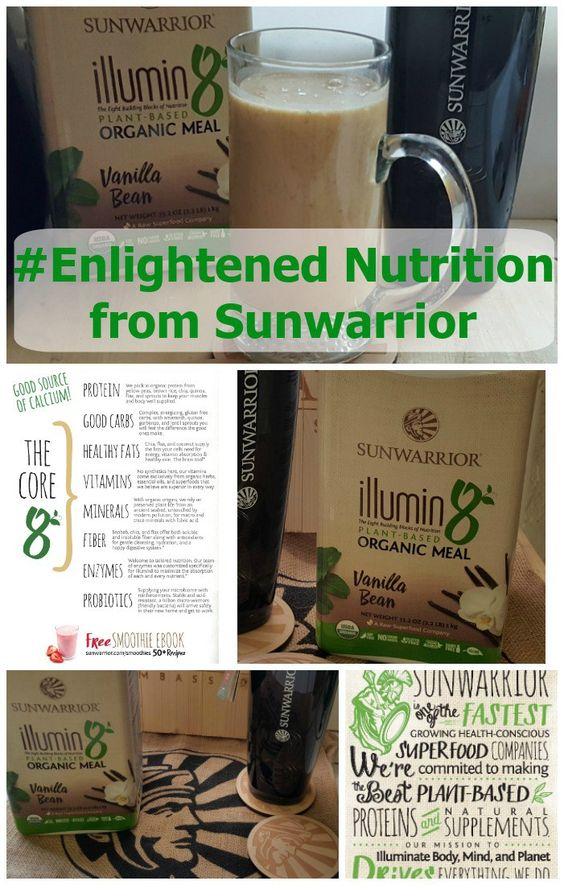 Sunwarrior is shining a new light on #EnlightenedNutrition with new Illumin8 Plant Based Organic Meal! It's great as a snack or even to replace a meal. #ad