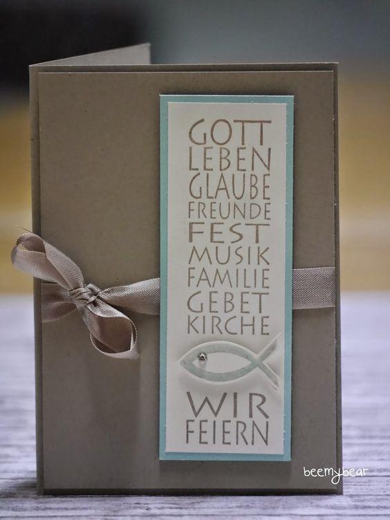 stampin with beemybear: Karten/Einladungen zur Kommunion und Konfirmation   kartki   Pinterest