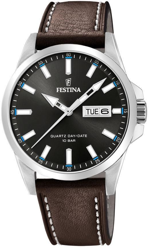 Festina Multifuntion 41 5mm Black Dial Black Strap Men S Watch F20278 C Time Machine Plus Watches For Men Festina Swiss Army Watches