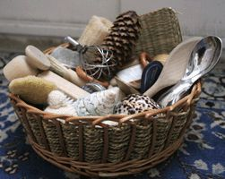 Love this idea. A lot nicer than all those plastic toys.     Heuristic Play Part I - The Treasure Basket | Little Acorns to Mighty Oaks