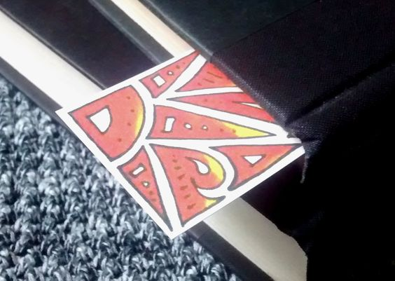 Orange/Gold Gradient Stained Glass Style Bookmark by jezunya on Etsy