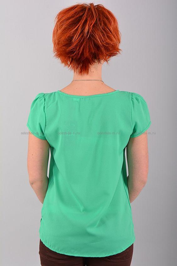 Блуза В0424  Цена: 490 руб  Размеры: 42-50    Оригинальная блуза с короткими рукавами, свободного кроя.  Выполнено из легкого материала однотонной расцветки.  Низ на эластичной резинке.  Состав: 100 % шифон.  Рост модели на фото: 156 см.     http://odezhda-m.ru/products/bluza-v0424     #одежда #женщинам #блузкирубашки #одеждамаркет