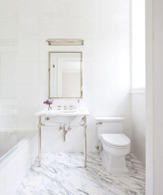 łazienki Z Białym Marmurem Garść Inspiracji Opa Interiors