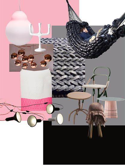 Winter woontrend 2011 2012 mixed moods in zwart wit en roze woonaccessoires lees meer interieur - Deco salon zwart wit ...