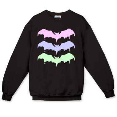Pastel Goth Ice Cream Bats Crewneck Sweatshirt - Bats - Pastel Goth - Printfection.com