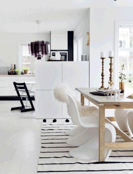 Nordisk stil + skandinavisk + hvidt + spisestue + køkken // nordic living:
