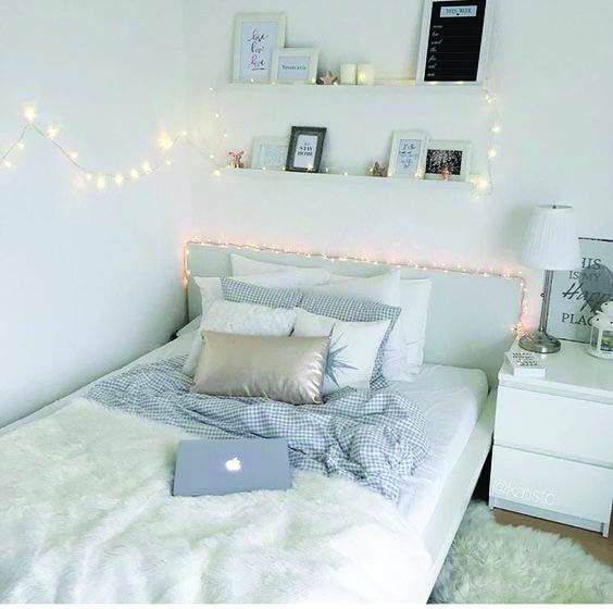 Tumblr Bedroom With Fairy Light Cozy Room Eclectic Bedroom Bedroom Inspirations