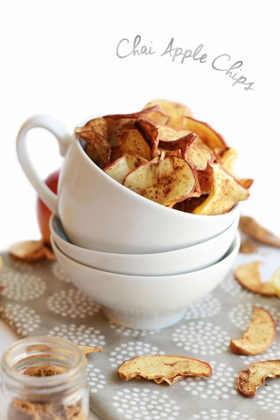 Naturally #GlutenFree Chai Apple Chips