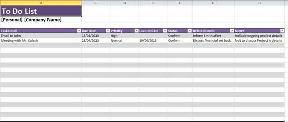Daily Task List Template Excel Spreadsheet Excel Templates - financial summary template
