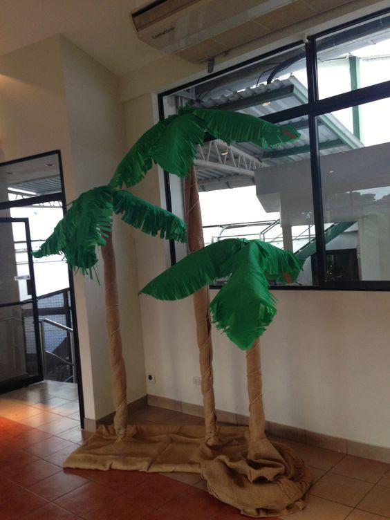 Palmeras decoracion fiesta jungla ideas para cumplea os - Como hacer una palmera artificial ...