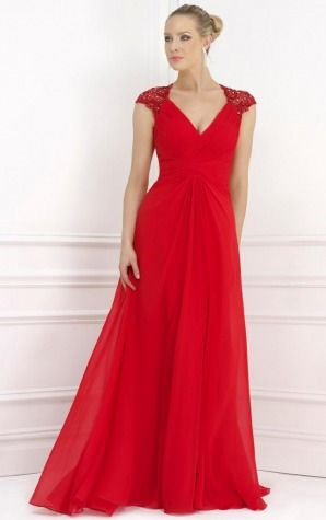 Evening Dresses,A-line Evening Dresses,Chiffon Empire Graceful A-line Floor-length Dresses