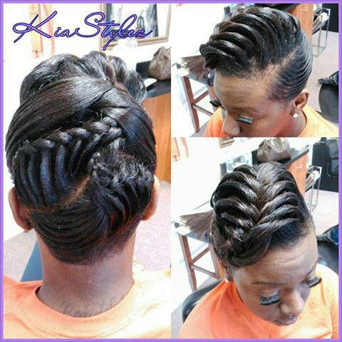 Fine Relaxed Hairstyles Protective Styles And Relaxed Hair On Pinterest Short Hairstyles Gunalazisus