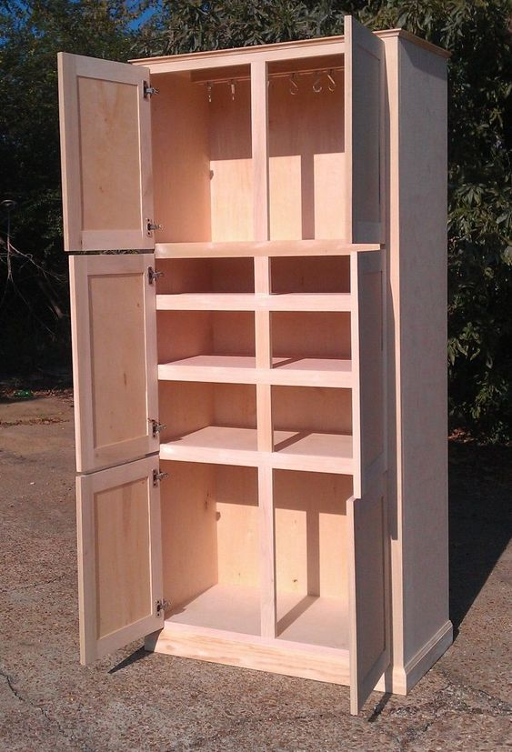 Exciting Free Standing Kitchen Storage Cabinets Come With Double