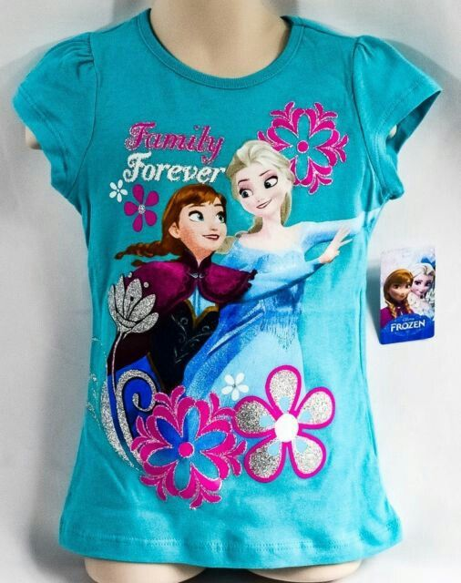 NEW Official Disney Frozen Anna dress design print t-shirt 2-3yrs