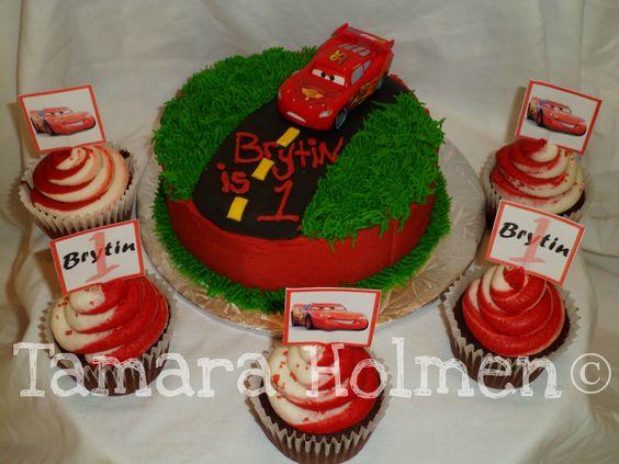 Cars Cupcakes and Smash Cake