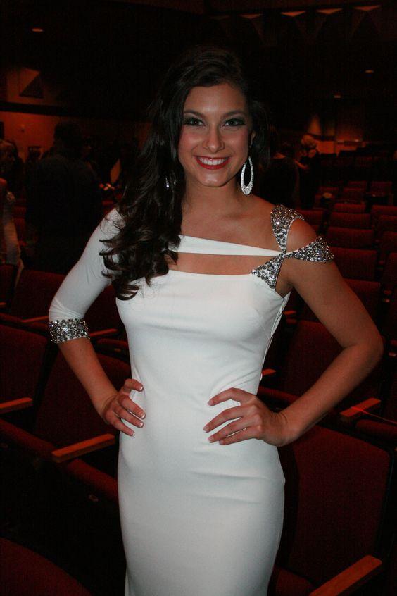 #Contest #Winner Teaka Marie looked Fabulous in #Jovani #Prom #dress style 5773 #white #fashion