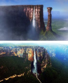 Paradise falls vs angel falls