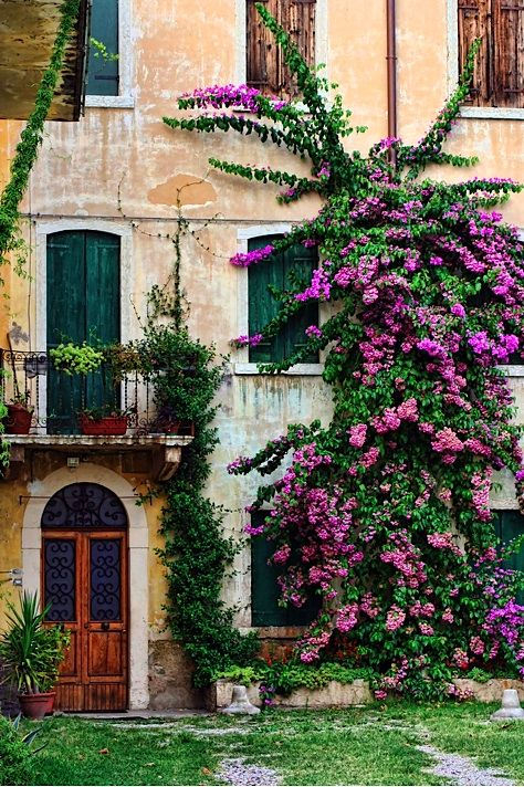 Casa di fiori - Lake Garda, Italia  // Great Gardens & Ideas //: Beautiful Italy, Doors Windows, Beautiful Places, Garda, Lake Garda, Garda Italy, Lake, Flowers Garden