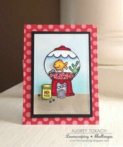 Lawn fawn fish tanks and gumball machine on pinterest for Gumball machine fish tank