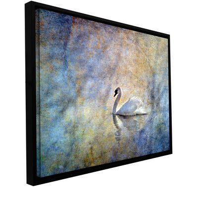 ArtWall The Swan' by Antonio Raggio Framed Painting Print on Wrapped Canvas Size: